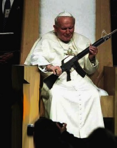 """No your Holiness, I said show them your cross"""