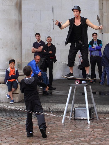 How do you kill a Street Performer?   Go straight for the Juggler.