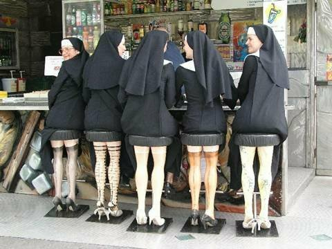 Nice legs, shame about the faith.