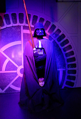 In Disneys latest bizarre plotline twist Darth Vader turns out to be 4 Ewoks on each others shoulders.