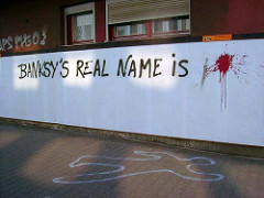 After police announce they are closing in on Banksy, they warn him the writings on the wall.