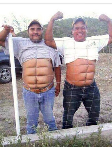 Nobody believed them when they said fencing was guaranteed to give you a six-pack.