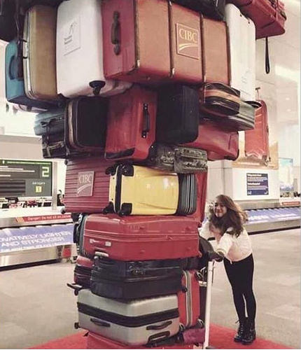 """Those bloody baggage handlers have been playing Jenga again."""