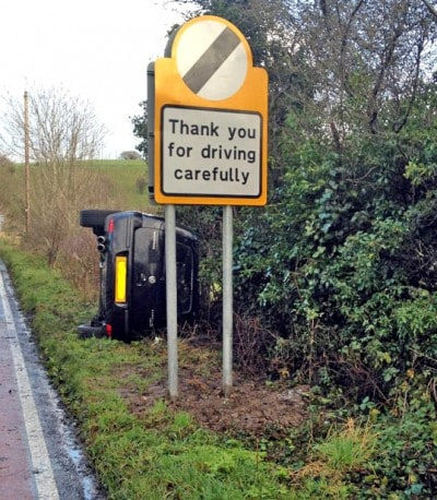 Once I passed that sign I thought I could start driving normally again.