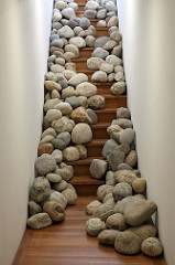 I decorated the hall this weekend and took your advice about going for a boulder look.
