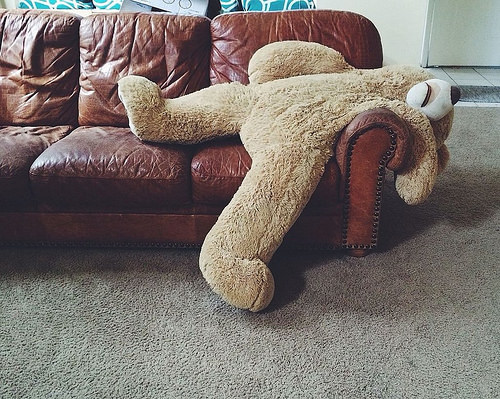 Filming twenty five episodes of Rainbow back-to-back was beginning to take its toll on Bungle.