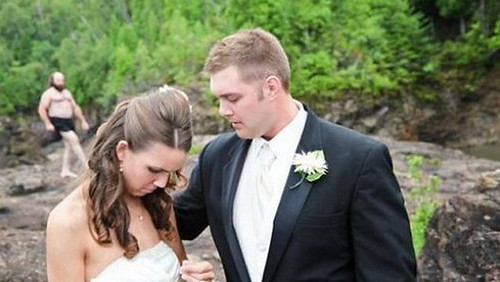 """I cant believe youre doing this to me. This is supposed to be the happiest day of my life""  ""Sorry babe but you know Thursday is mud wrestling day for me and Dave. Ill be back in time for the first dance"""