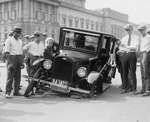 The first ever car to park in Liverpool