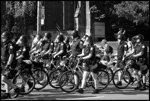 The Drugs Squad was alerted to be on the lookout for a large gang of pedallers